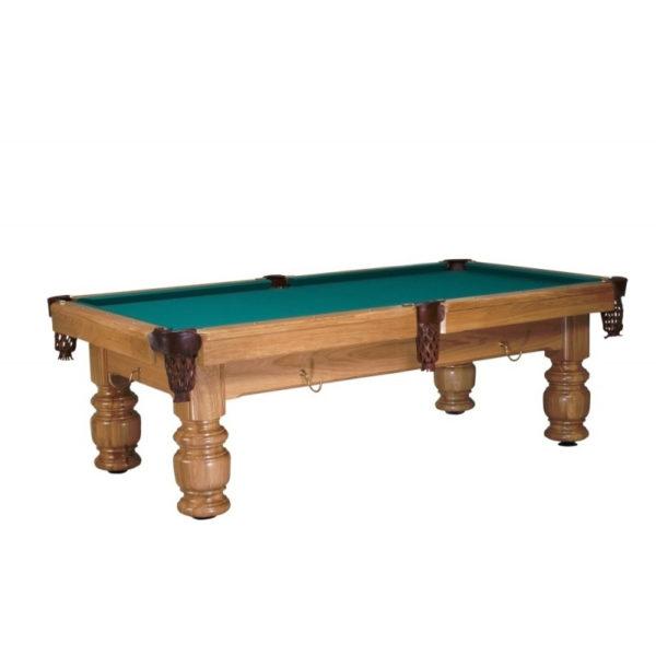 Designový billiardový stůl s precizně opracovanými nohami stolu