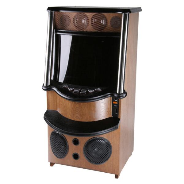 Jukebox v dřevěném kabinetu