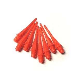 Plastový měkký hrot k šipkám – 25 mm, 2BA úzký závit, červená