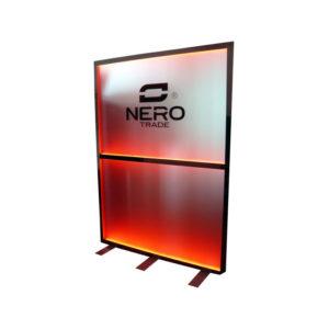 Podsvětlený poutač / zástěna NERO – vysoká