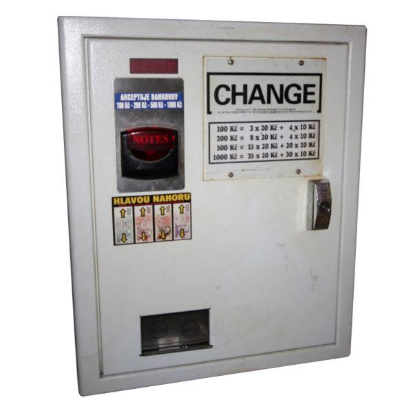 Použité zařízení na rozměnění bankovek na mince
