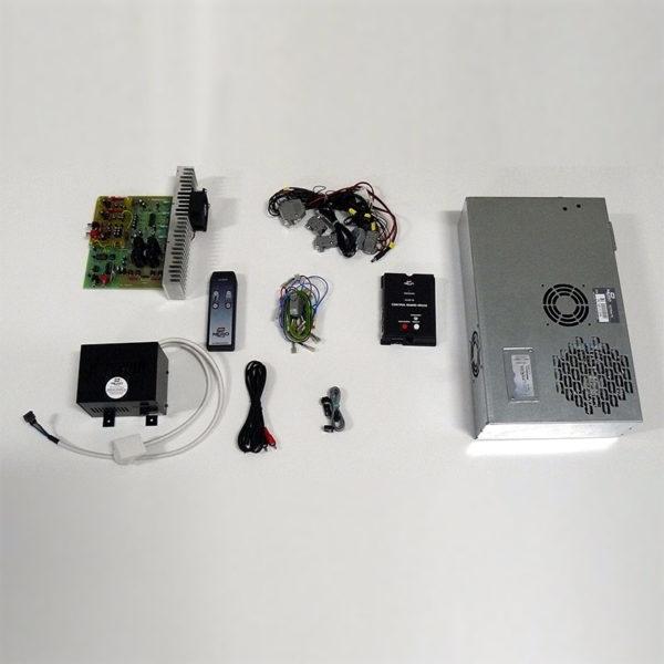 Kit pro sestavení jukeboxu s dálkovým ovladačem a zesilovačem